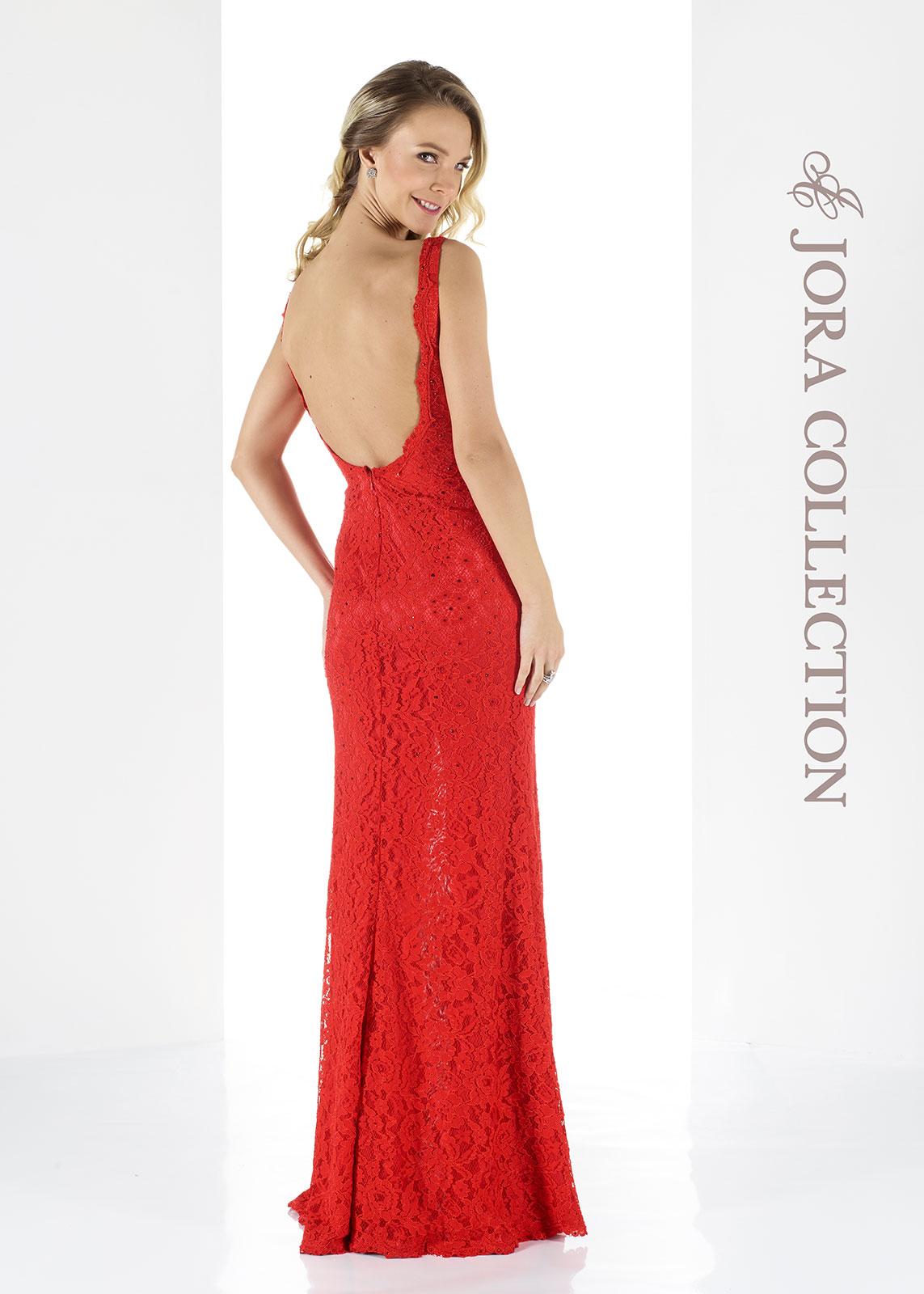 red prom dress