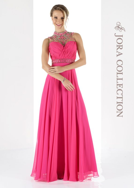 hot pink prom dress