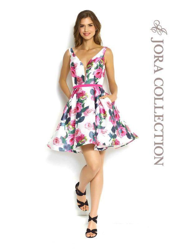 short print dress
