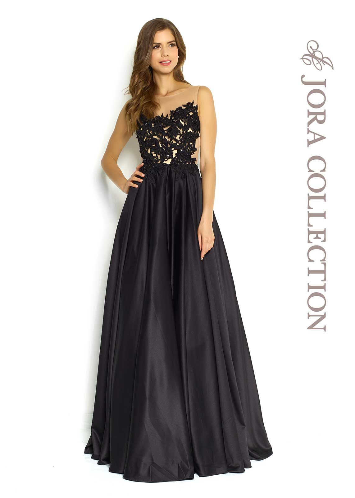 black full length evening gown