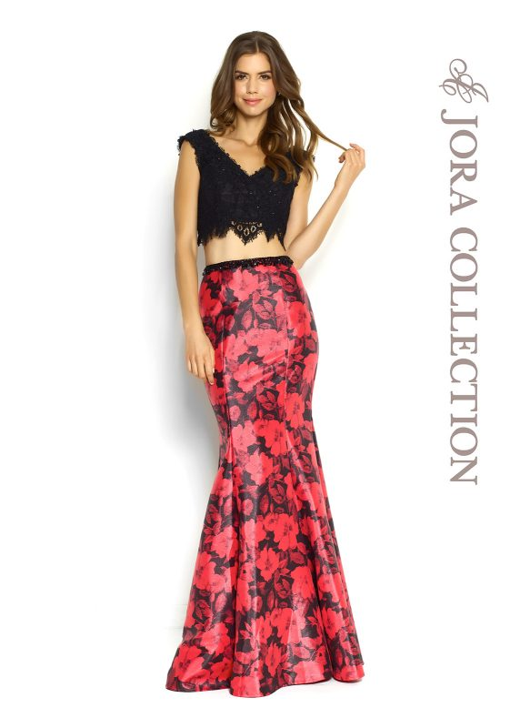 TWO PIECE EVENING DRESS SET