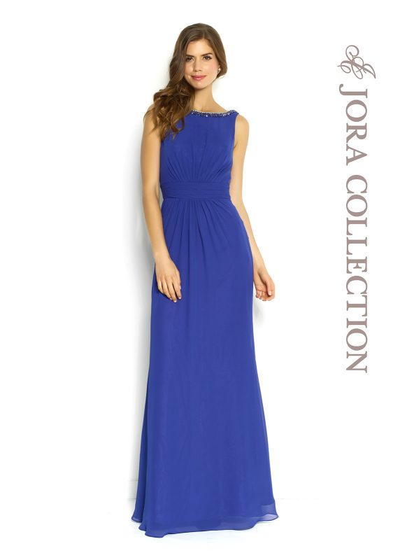 LONG BLUE PROM DRESS